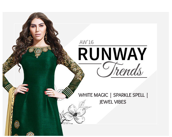 AW'16 Runway Trends: Ensembles & Accessories in White, Shimmer & Jewel Tones. Shop!