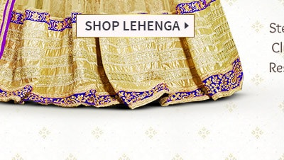 AW'16-17 Festive trend: Golden-hued Lehenga Cholis with Zari motifs & shimmering Add-ons Shop!