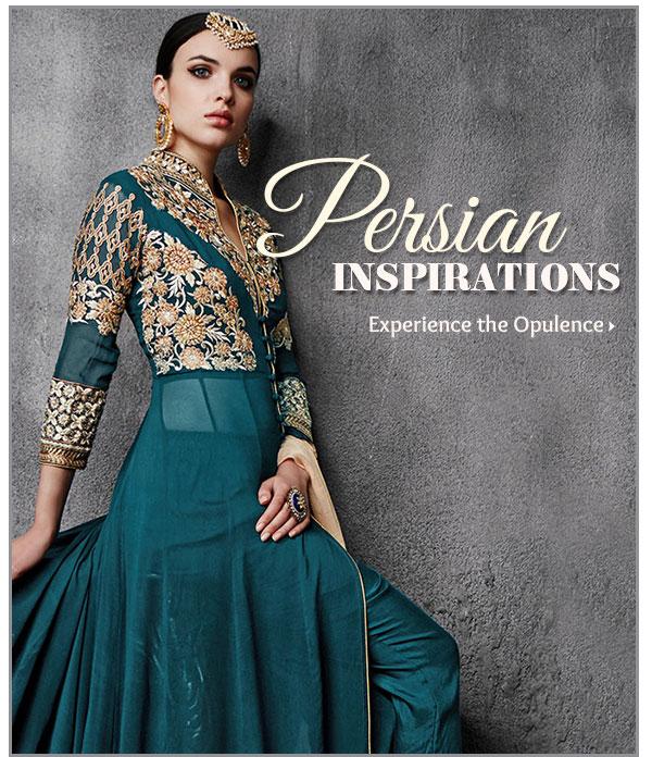 Persian line of Zari & Resham Work, Paisley Motifs, Kundan & Stone Jewelry & more. Shop!